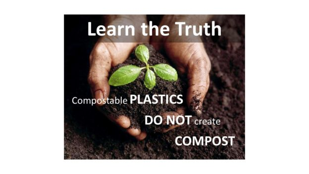 Compostable Plastics do not create compost